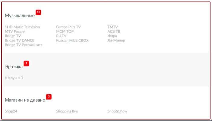 какие каналы входят в мтс тв спутниковое телевидение