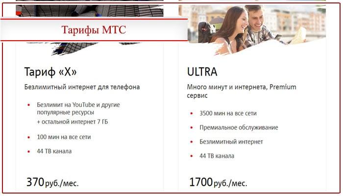 тарифы X и Ultra