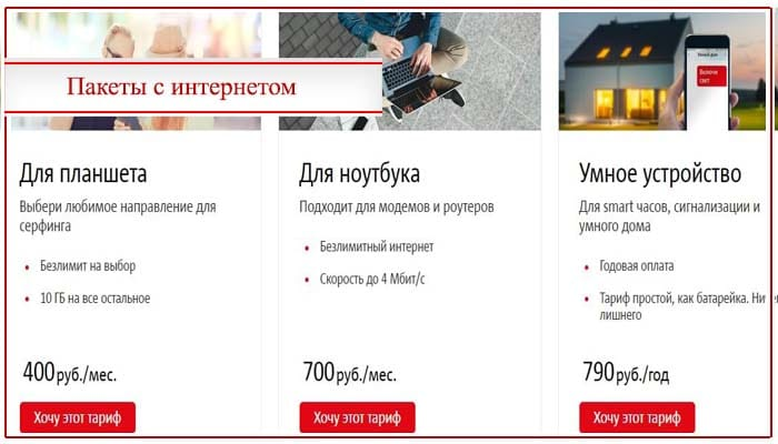 тарифы мтс калининградская область